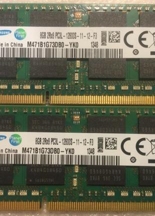 Оперативная память Samsung 16GB (2x8GB) SODIMM DDR3L-1600 PC-128