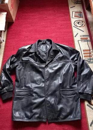 Куртка кожаная, френч, пиджак, большой размер!