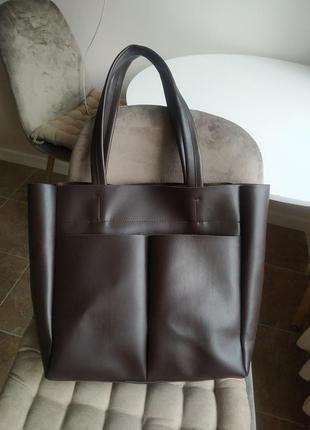 Удобная сумка-шоппер, уценка (маленький нюанс)