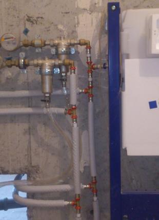 Монтаж водоснабжения и канализации в новых квартирах и домах.