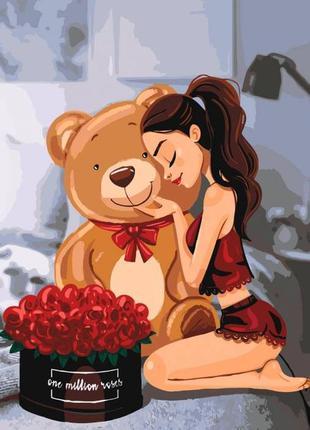 Картина по номерам one million roses ид