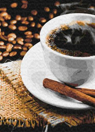 Картина по номерам кофе с корицей