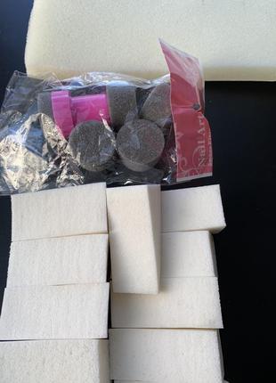 Набір, комплект, поролон, спонжики для градієнта в манікюрі, д...
