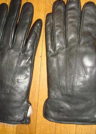 Перчатки с натуральным мехом