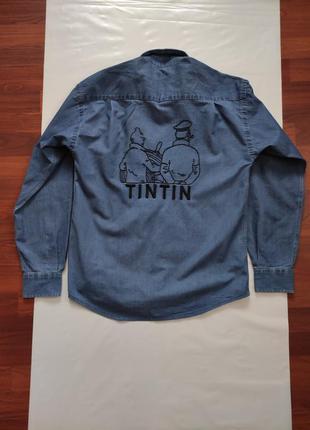Стильна вінтажна рубашка - tintin