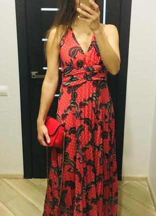 Новый макси сарафан платье плиссе,М-Л