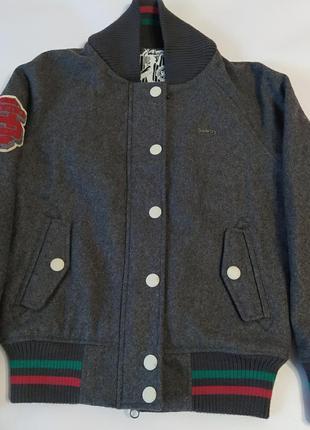 Шерстяная  стильная куртка унисекс