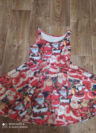Новогоднее платье  снегурочки с дедом морозом