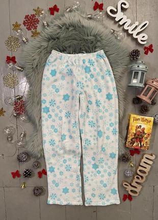 Теплые флисовые домашние брюки штаны №94