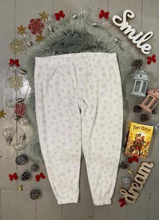 Теплые флисовые домашние брюки штаны №96
