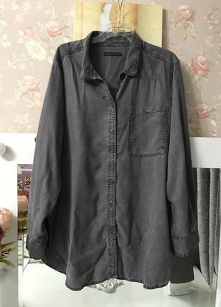 Джинсовая рубашка большого размера m&s