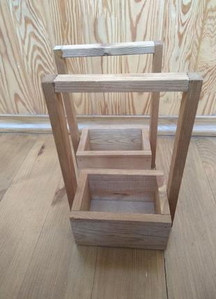 Ящик деревянный для цветов  / Горщик для квітів