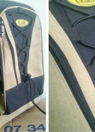 Рюкзак брезентовый, Class, 38×34×12, к новому