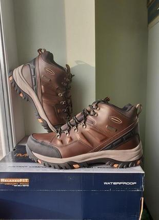 Skechers ● 29см ● Кожаные, водонепроницаемые ботинки из США.