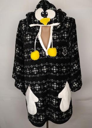 Кофта пижама спальная мягкая новая пингвин one size