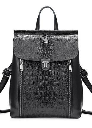 Рюкзак кожаный женский. сумка трансформер из натуральной кожи ...