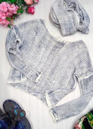 Супер комплект 2 в 1 свитер джемпер кофта и шарф хомут снуд