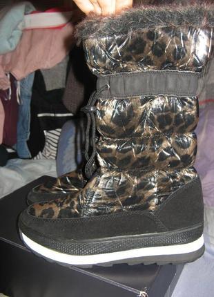 Ботинки сапоги h&m замша и натуральный мех овцы