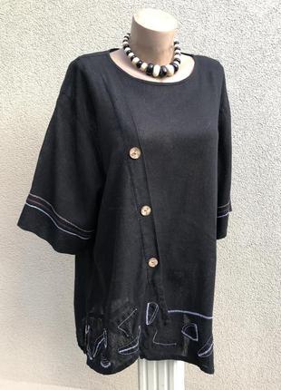 Чёрная блуза,рубаха с белой вышивкой,этно,бохо стиль,дизайнер,