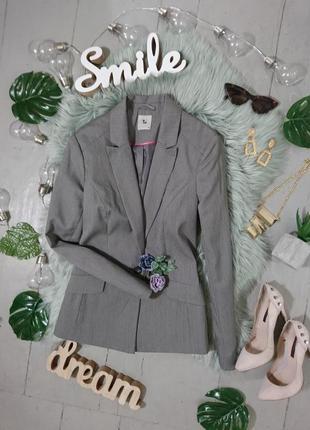 Базовый классический серый пиджак №18max