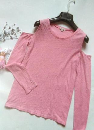 Трикотажная блуза с длинными рукавами