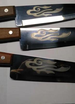 """Набор ножей кухонных """"Tramontina"""" с травлением Орнамент."""