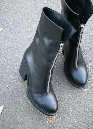 Kenzo! ботинки женские зима кожа! змейка спереди удобный широк...