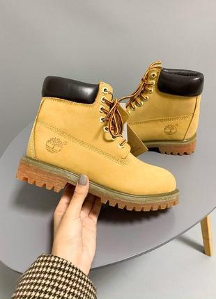 Шикарные женские термо ботинки timberland yellow  термо
