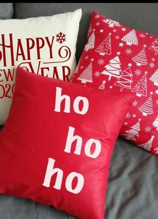 Подушка декоративная, новогодняя, набор подушек