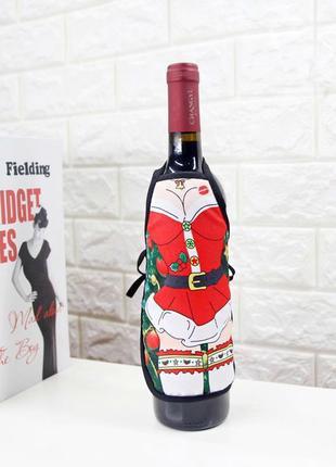 Новогоднее украшение на бутылку. Рождественский декор на стол!