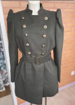 Пальто  ,стильное пальто с фонариками, пальто на подкладке