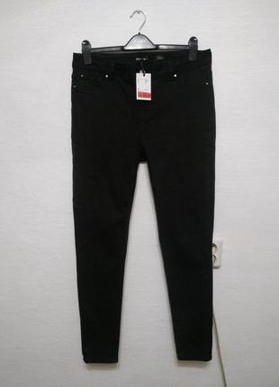 Стильные модные базовые черные джинсы большого размера