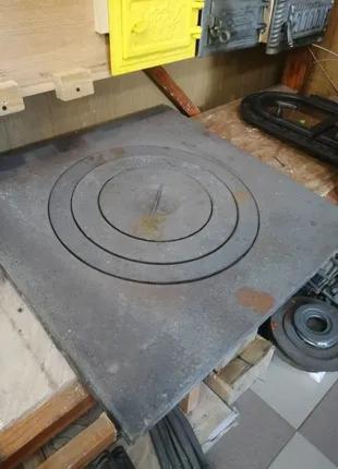 Печная чугунная плита 75х75 под 22л казан.