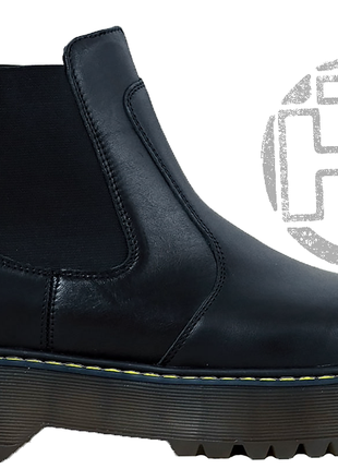 Женские ботинки dr.martens 2976 platform leather chelsea boots...