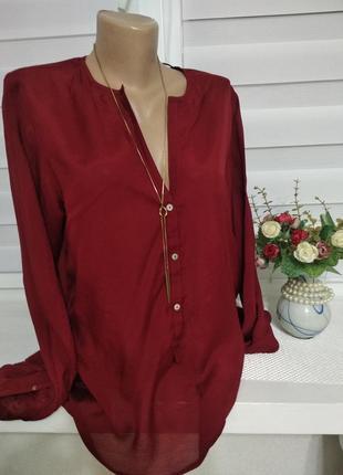 Рубашка бордо