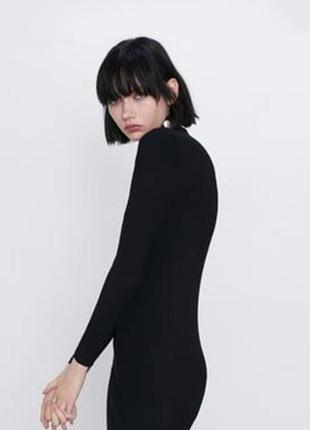 Базовое трикотажное платье свитер от zara