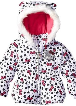 Зимняя куртка hello kitty для девочки. оригинал. сша.