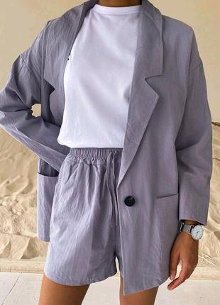 Костюм пиджак+шорты