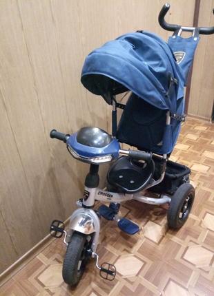 Велосипед для мальчика Crosser one, 3-колёсный велосипед -коляска