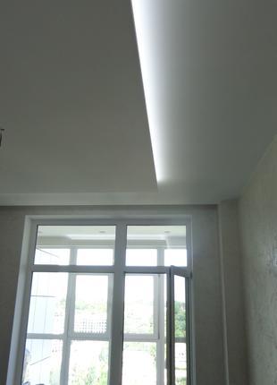 Шпаклевка потолков, стен.