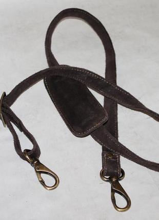 Замшевый плечевой ремень на сумку