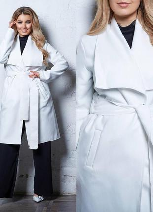 Пальто белое женское