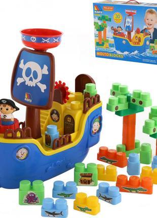 Набор Пиратский корабль с конструктором 30 деталей Полесье
