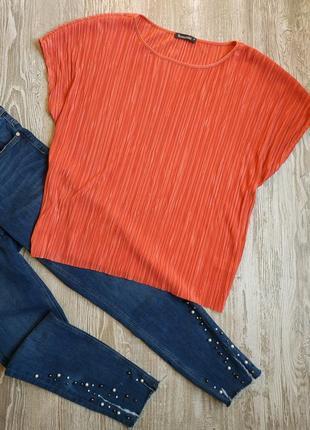 Лососевая блузка плиссе bonmarche размер 20-22