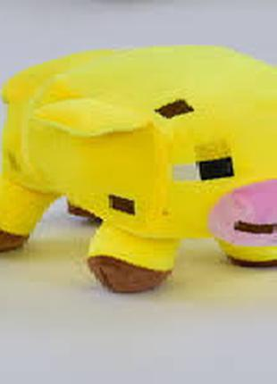Мягкая игрушка Майнкрафт свинка желтая