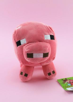 Мягкая игрушка Майнкрафт свинка розовая 00663-8