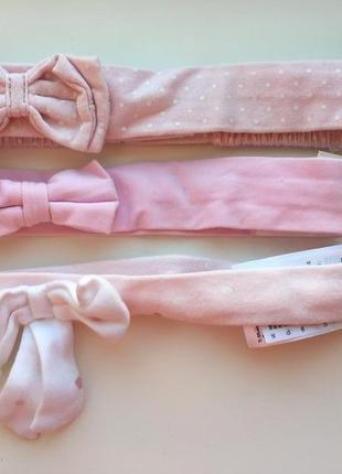 2 нежно-розовые повязки h&m