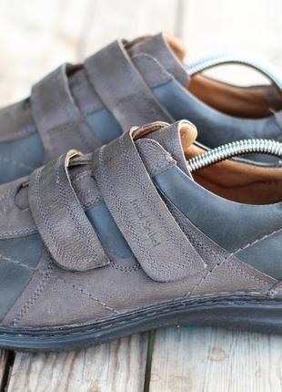Удобные кожаные туфли на липучке josef seibel