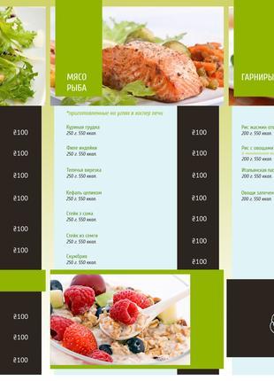 Дизайн меню для кафе та ресторанів
