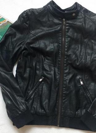 "Кожаная (pu) куртка ""george"" 13-14 лет, 158-164 см"